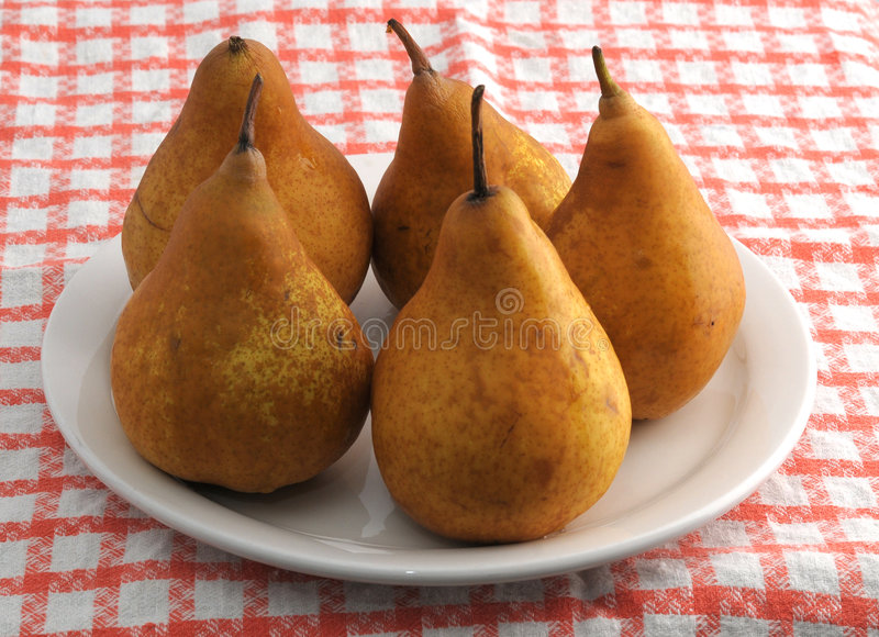Download Plate with bosc pears stock image. Image of plate, ripe - 6860463