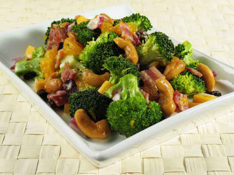Download Plate of Broccoli Salad stock image. Image of orange, mayonnaise - 4090993