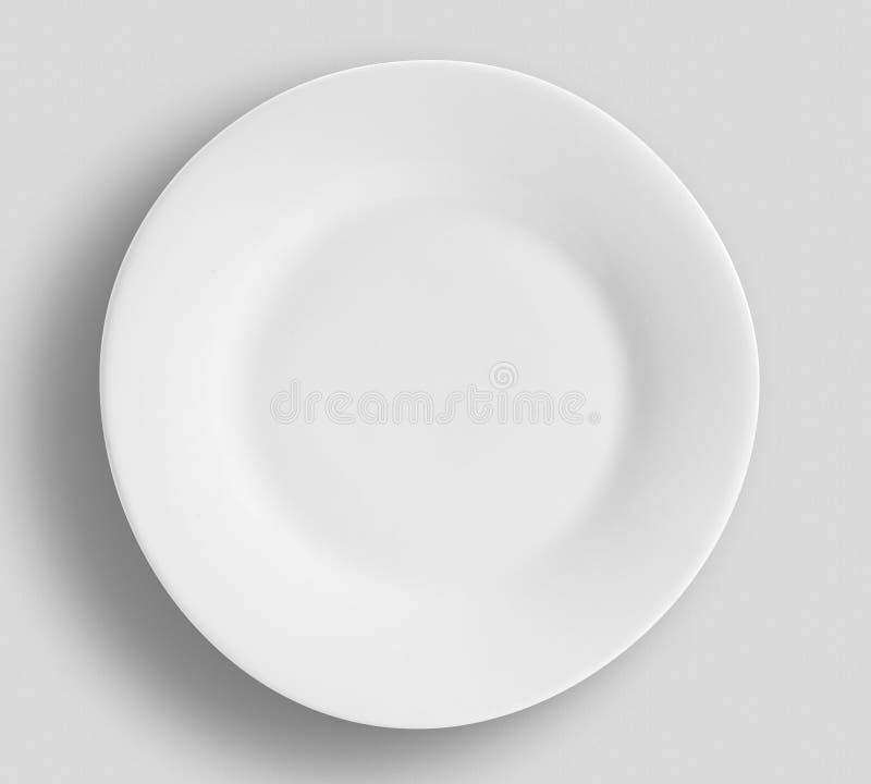 Plate a colori moderne - Semplice raccolta di sketch Dinnerware immagine stock