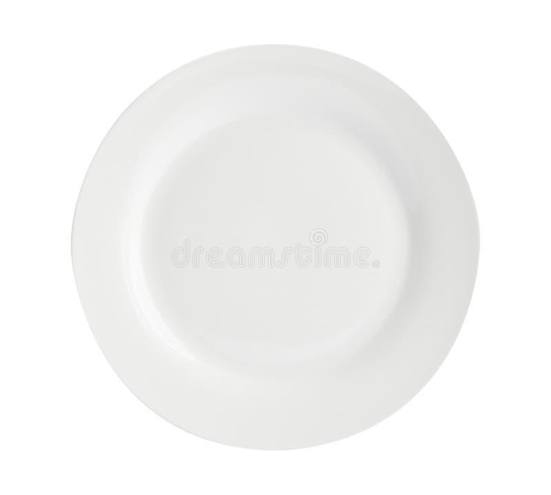 Plate a colori moderne - Semplice raccolta di sketch Dinnerware - Piastre per dinnerware a colori in bianco immagini stock