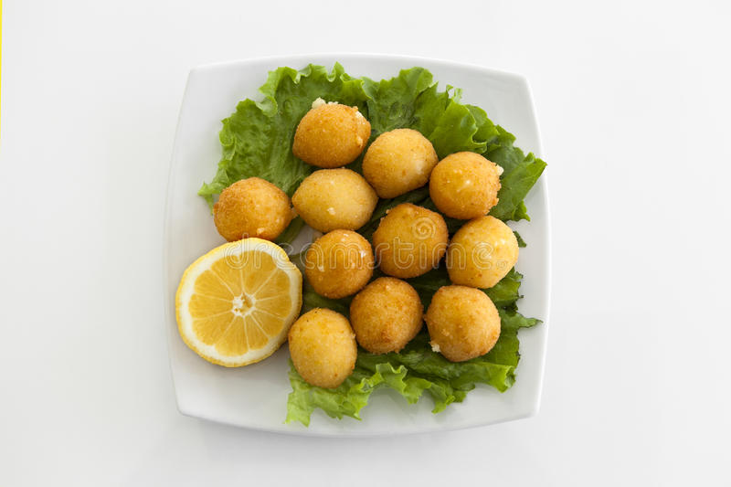 Download A plate with croquettes stock photo. Image of fork, breaded - 28566736