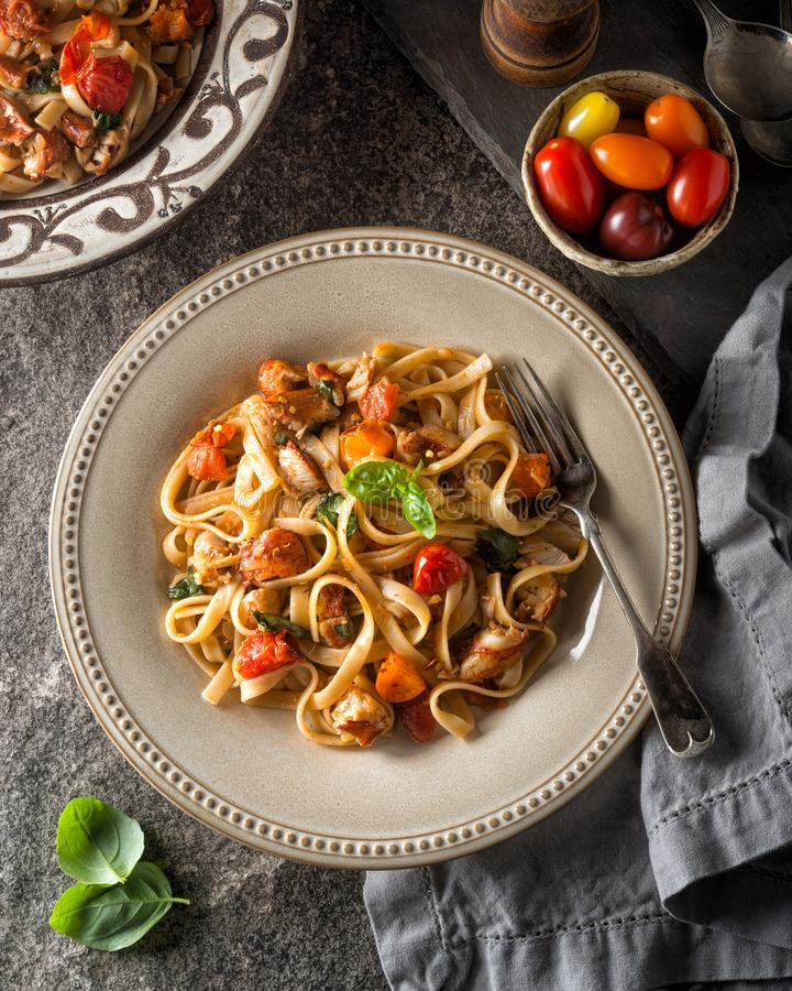 Download Delicious Lobster Fettuccine Stock Image - Image of pasta, heirloom: 110484073