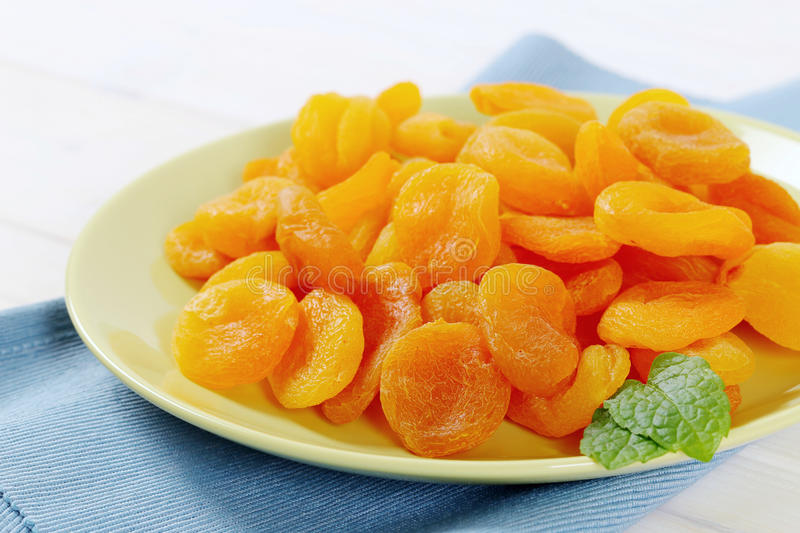 Download Plate Of Dried Apricots Stock Photo - Image: 83708563