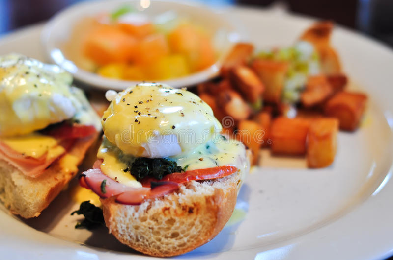 Plate of Eggs Benedict royalty free stock image