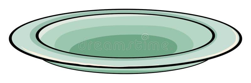 Plate royalty free illustration