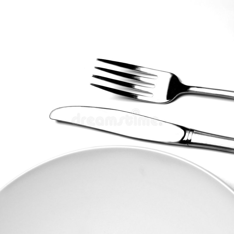 Download Plate Fork Knife stock image. Image of elegance, reflecting - 8784261