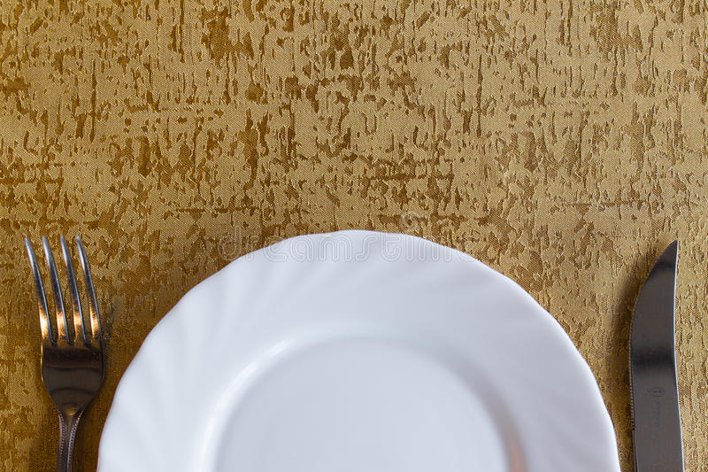 Download Plate with fork and knife stock photo. Image of fork - 31045122