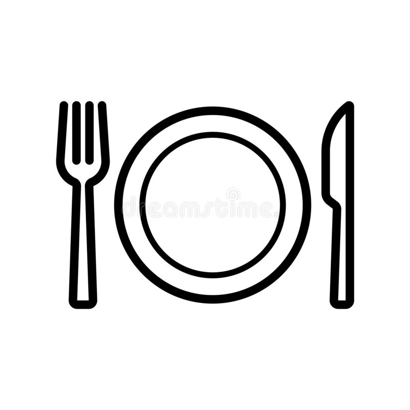 Plate with fork and knife icon flat vector illustration design vector illustration