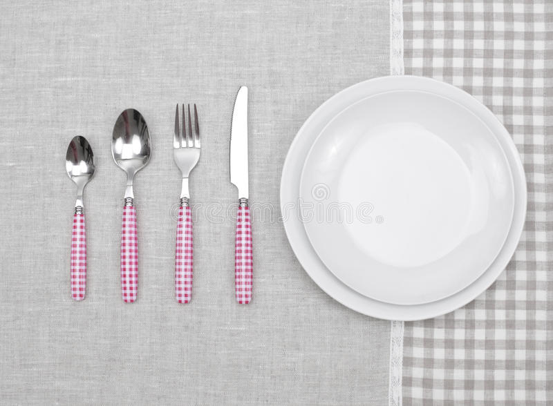 Download Plate With Fork, Spoon And Knife Stock Image - Image of background, knife: 30945153