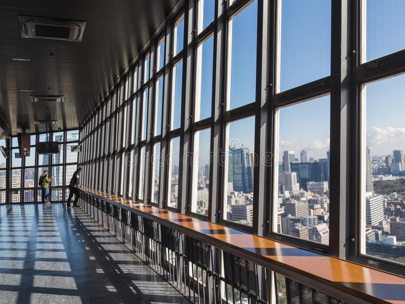 Plate-forme d'observation de tour de Tokyo TV images stock
