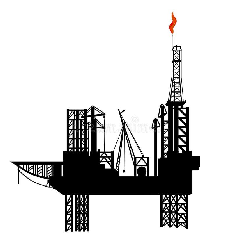 Plate-forme de forage de pétrole illustration de vecteur