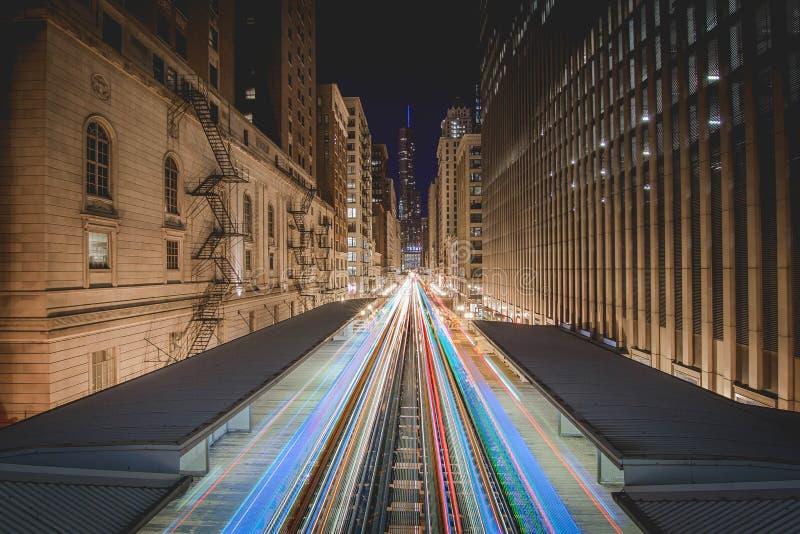 Plate-forme de métro de Chicago photo stock