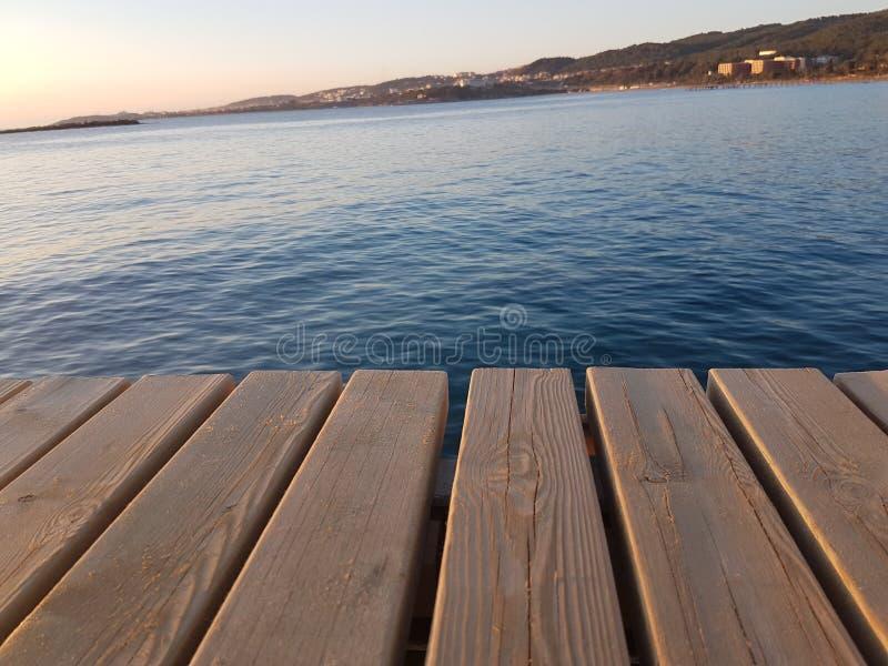 Plate-forme de plage image stock