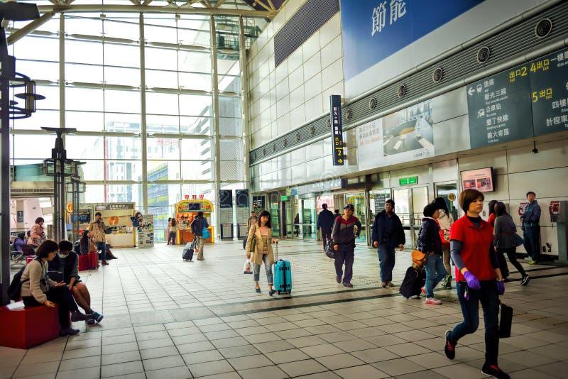 Plate-forme de station du rail à grande vitesse de Taïwan (THSR) images stock