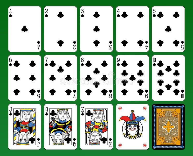 Plate-forme de symboles de cartes de clubs illustration de vecteur