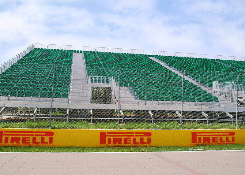 Plate-forme F1 images libres de droits