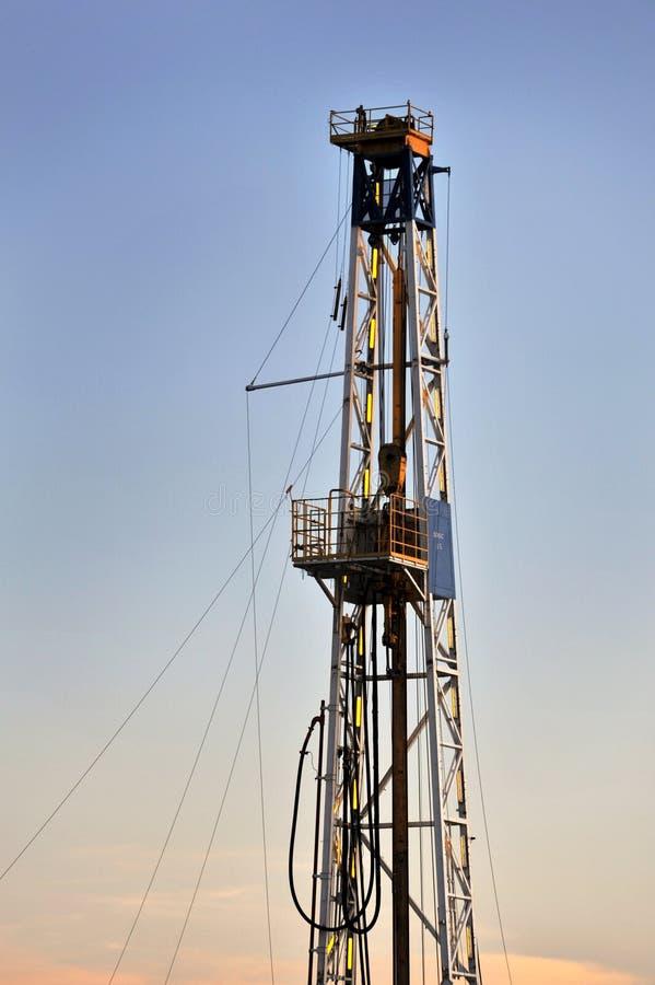 Plate-forme pétrolière image libre de droits