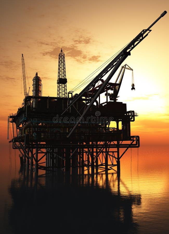 Plate-forme pétrolière illustration libre de droits