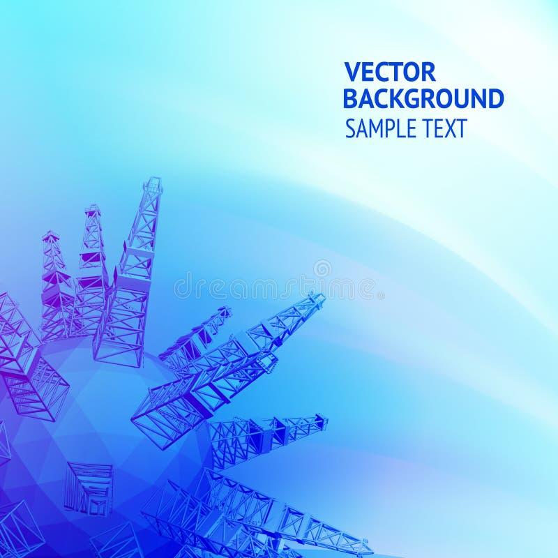 Plate-forme pétrolière illustration de vecteur