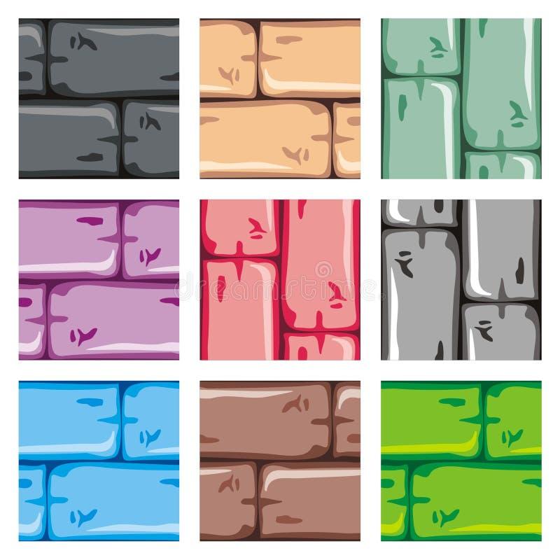 Plate-forme réglée de tuile pour le jeu 18 illustration de vecteur