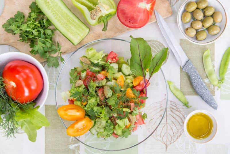 Vegetable salad. Vegetarian vegan healthy food stock photos