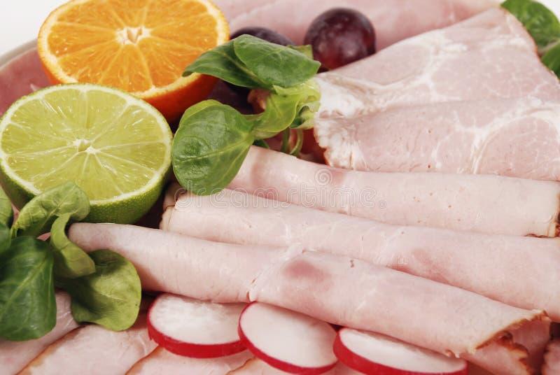 Download Plate full of ham stock image. Image of vegetable, breakfast - 2321139