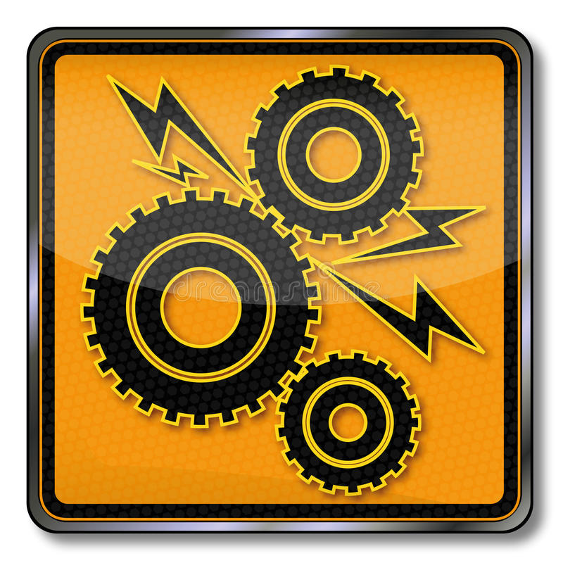 Plate gears and blocking. A machine royalty free illustration