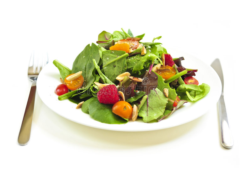 Download Plate Of Green Salad On White Background Royalty Free Stock Photography - Image: 6614667