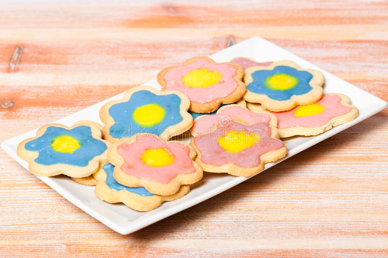 Download Plate of Homemade Biscuits stock image. Image of decoration - 20864079