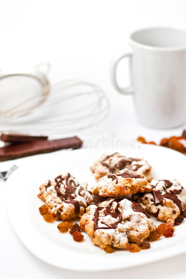 Plate With Homemade Cookies Royalty Free Stock Photos