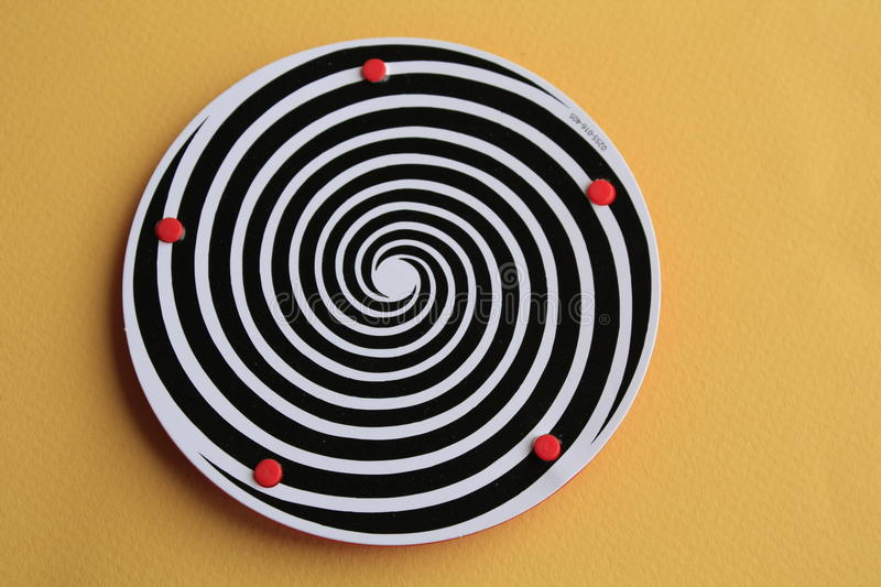 Download Plate with hypnotic swirl stock photo. Image of plate - 18708812
