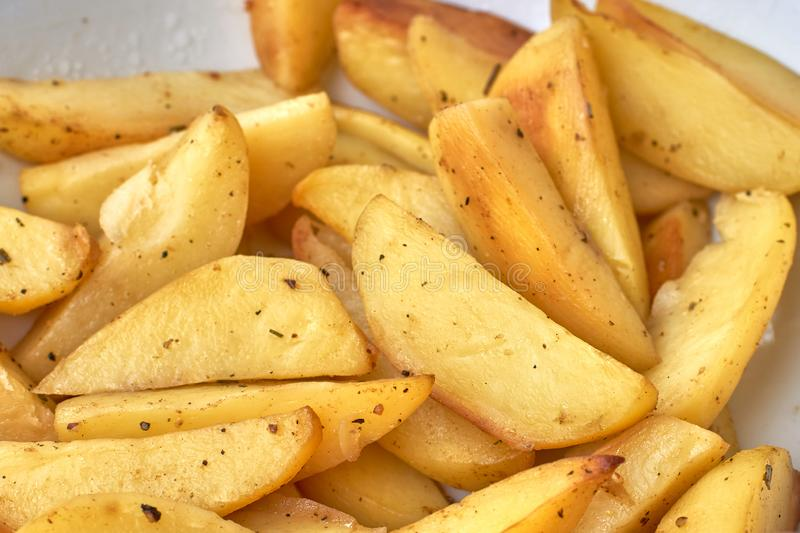 Plate of Idaho Hot Chips royalty free stock photography