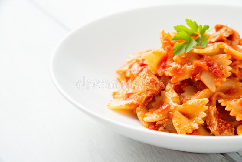 Tuna Ragout Pasta royalty free stock images