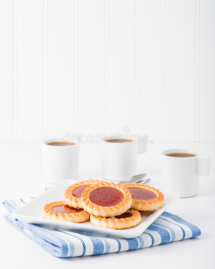 Plate of Jam Filled Cookies royalty free stock photo