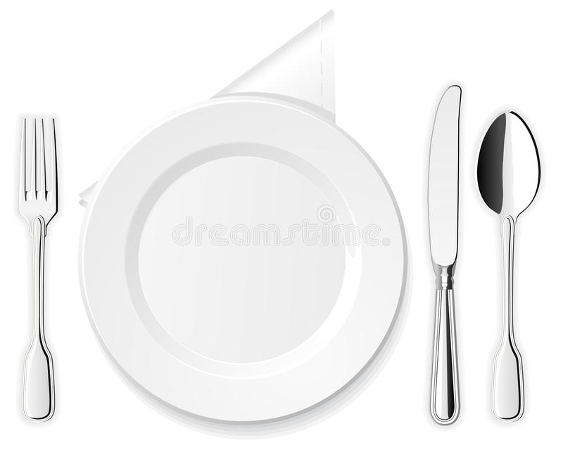 Download Plate, Knife, Spoon And Fork Stock Vector - Image: 23241692