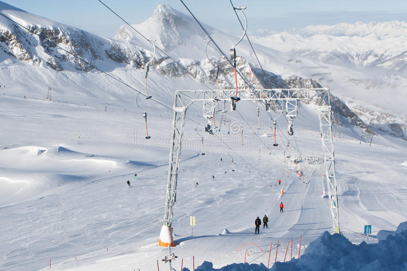 Plate Lift In Alps Stock Photography