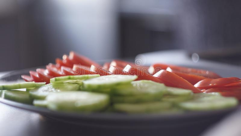 The plate of many vegetables royalty free stock photography