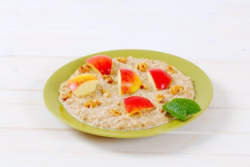 Download Plate of oatmeal porridge stock photo. Image of fiber - 83706272