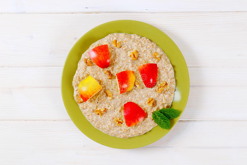 Download Plate of oatmeal porridge stock image. Image of healthy - 83706305