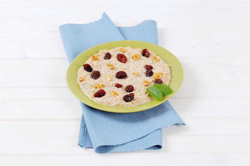Download Plate Of Oatmeal Porridge Stock Photo - Image: 83706000