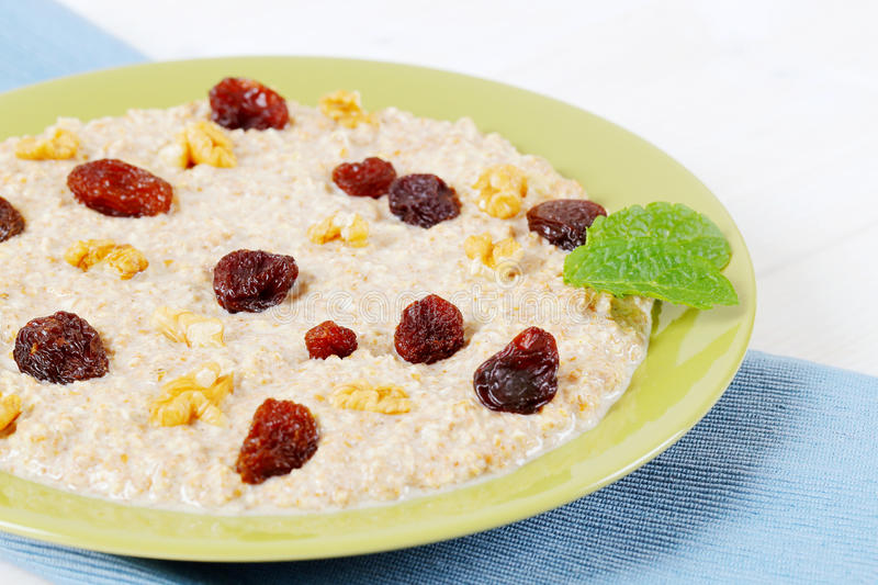 Download Plate of oatmeal porridge stock photo. Image of folded - 83706136