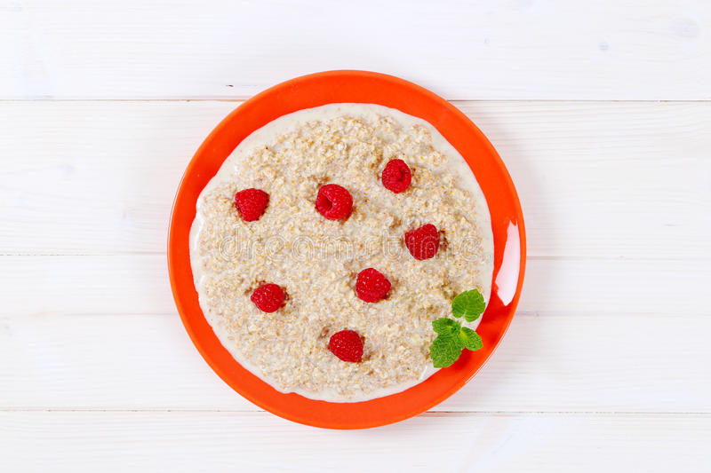 Download Plate of oatmeal porridge stock image. Image of view - 83706533