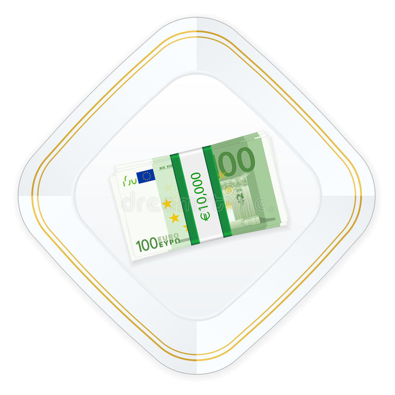 Download Plate And One Hundred Euro Pack Stock Vector - Illustration of money, white: 37848234