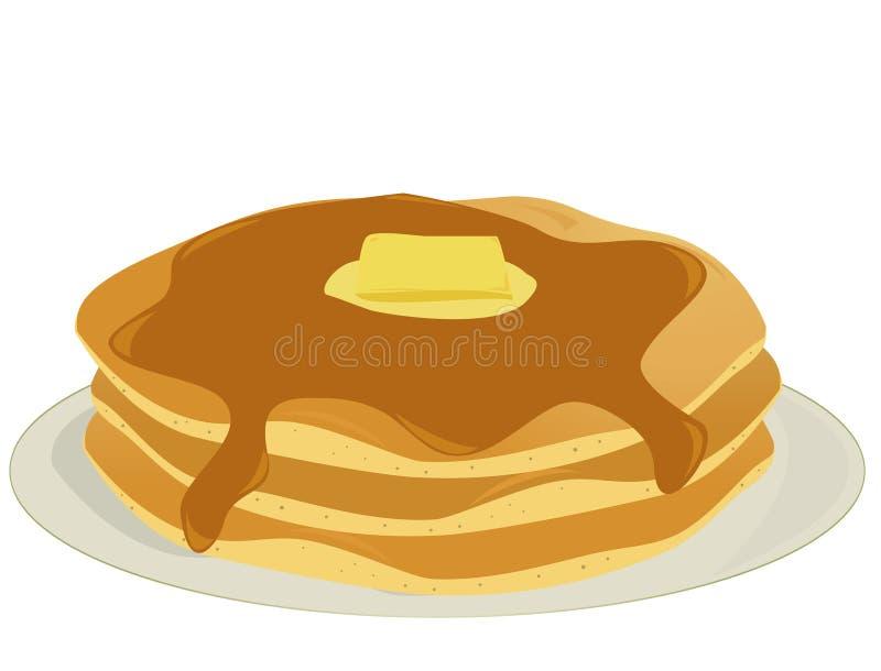 Plate of pancakes stock photos