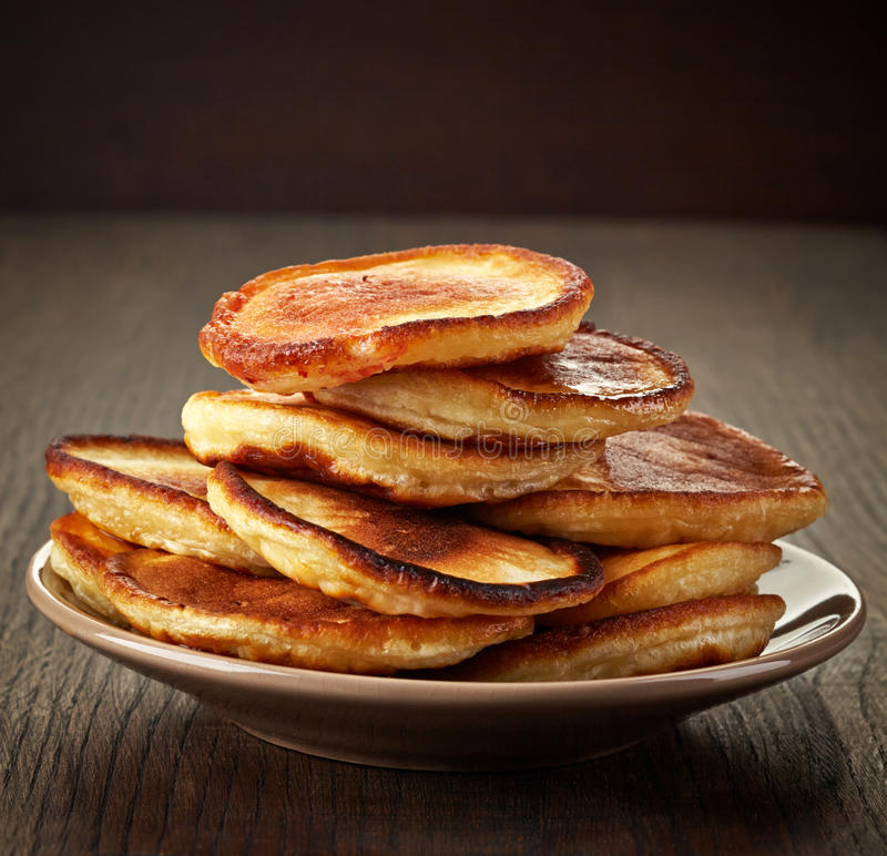 Plate of pancakes stock photography