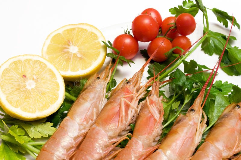 Download Plate With Raw Prawns stock image. Image of shrimps, plate - 17313631