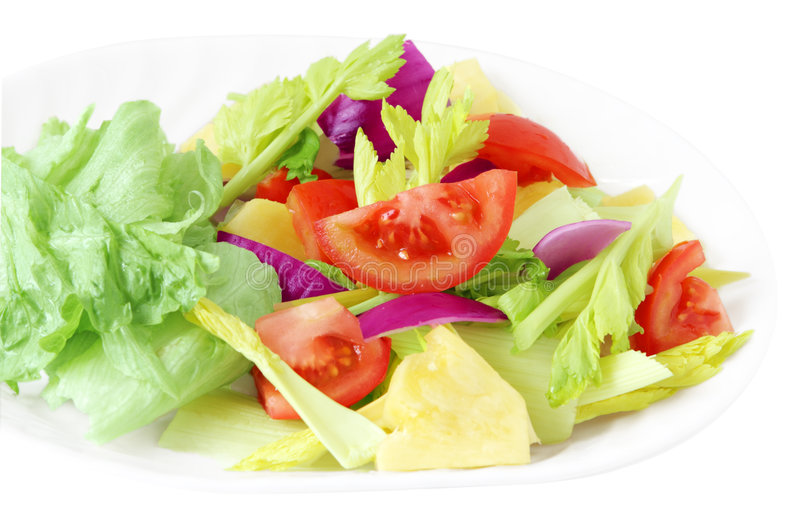 Plate of salad royalty free stock images