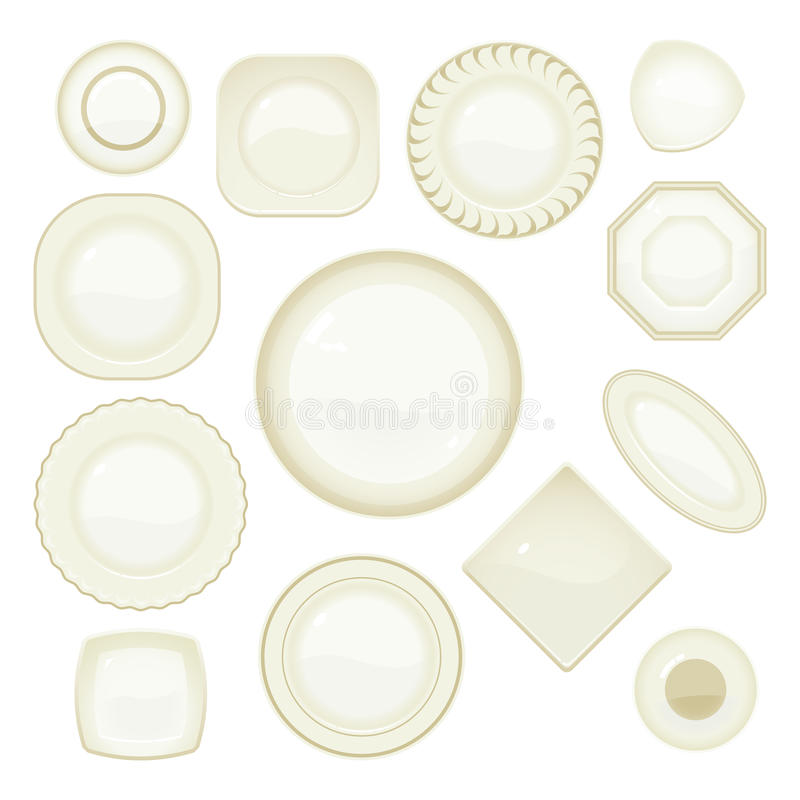 Plate Set stock images