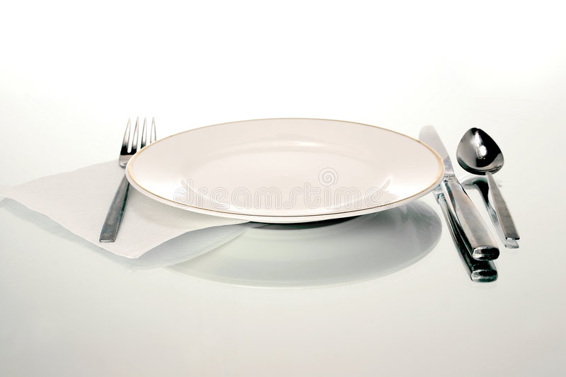 Download Plate setting stock photo. Image of fork, celebration, silverware - 429592