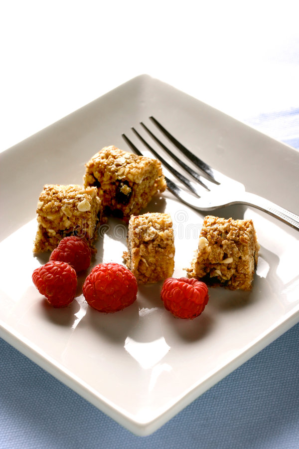 Download A Plate Of Sliced Up Muesli Bar Stock Photo - Image: 1979228